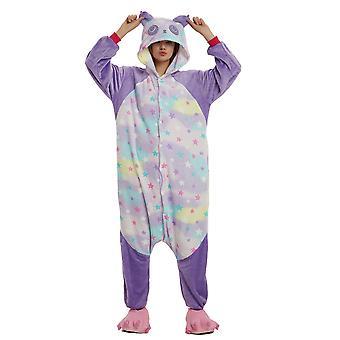 Regenboghorn Purple Panda Costume Pajama Onesie Kigurumi Jumpsuit Animal Hoodie