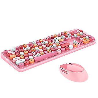 Pink trådløst tastatur og mus combocute trådløst tastatur x7364