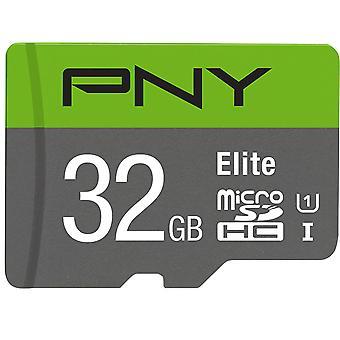 PNY Elite minneskort 32 GB MicroSDHC Klass 10