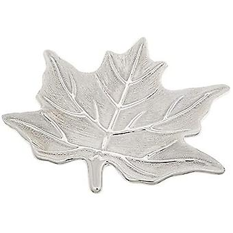 Leaf Maple Plate Champagne