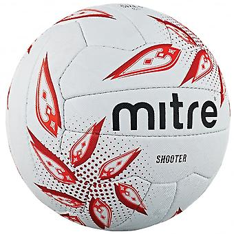 Mitre Shooter Netball Blanc / Rubis / Rouge - Taille 4