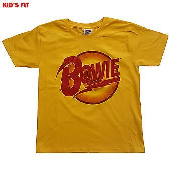 David Bowie - Diamond Dogs Logo Kids 7 - 8 Years T-Shirt - Giallo