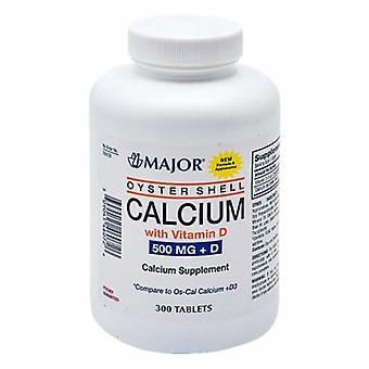 Major Pharmaceuticals Oyster Shell Calcium with Vitamin D, 500mg, 300 Tabs