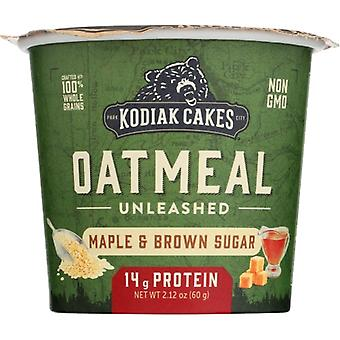 Kodiak Oatmeal Cup Mpl Brn Sug, Case of 12 X 2.12 Oz