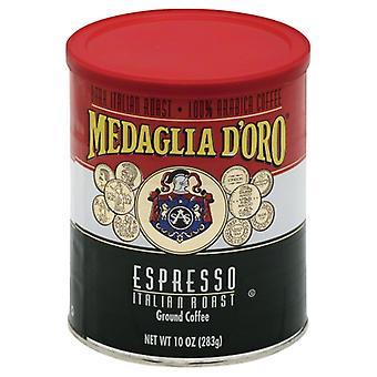 Medaglia D Oro Coffee Can Reg, Case of 12 X 10 Oz