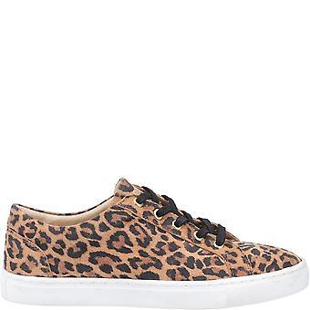 Hush Valpar Kvinnor / Damer Tessa Leopard Print Läder Tränare