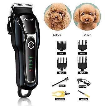 إعادة شحنها المهنية الكلب قص الشعر للقطة منخفضة الضوضاء الكهربائية مقص الشعر الاستمالة ماكينة الحلاقة