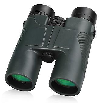 コンパクトな双眼鏡、バードウォッチング、旅行、コンサート、狩猟グリーンのための明確なビジョンを持つ10X42ポケットフォーマット双眼鏡、(陸軍緑)