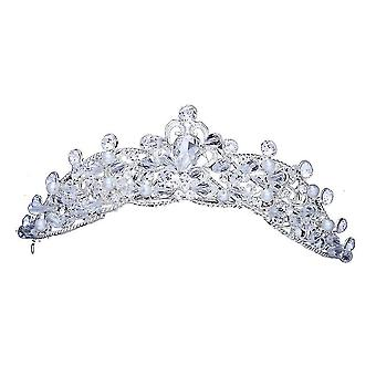 Vintage Barroco Crystal Beads Pearl Bridal Tiara Crown Bride Hairband Rhinestone Diadem Headbands