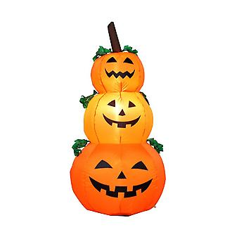 Halloween garden balloons decoration 1.2 m 3 pumpkin ghost inflation model with led