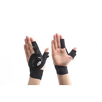Led kültéri zseblámpa horgászkesztyű (bal kéz)