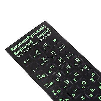 2Pcs toetsenbord stickers nieuwe Russische letters toetsenbord stickers voor notebook computer desktop