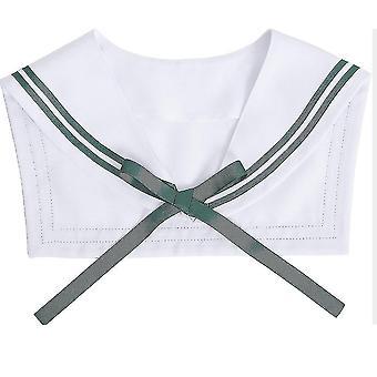 Boyscott gefälschte Kragen abnehmbare Bluse grün Band halb Shirts