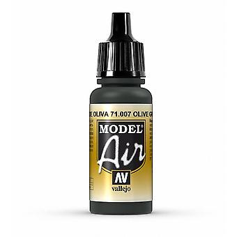 Vallejo Model Air 7 Olive Green - 17ml Acrylic Airbrush Paint