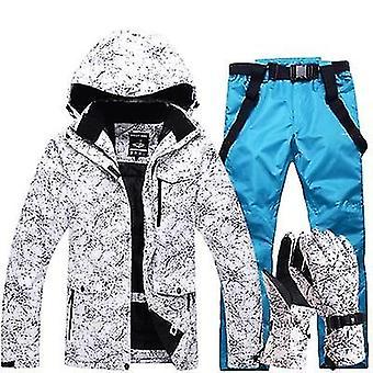 Winter Windproof Waterproof Skiing Gloves Jacket & Pants Suit