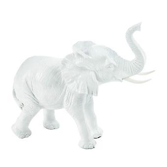 Accent Plus Textured White Ceramic Elephant, Pack of 1