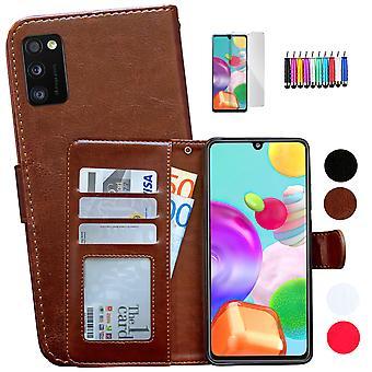 Samsung Galaxy A41 - Läderfodral / Skydd