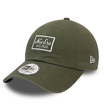 New Era 9Twenty Casual Classics Cap - BRAND PATCH olive