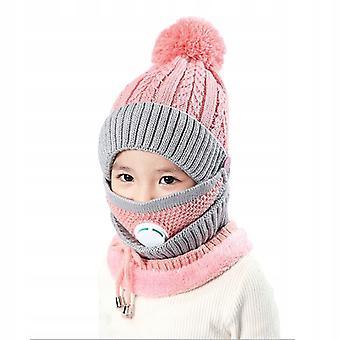 Készlet: Téli kalap 3 az 1-ben + sál + maszk gyerekeknek