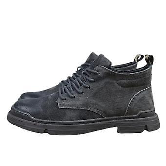 Nowe zamszowe skórzane buty retro martin męskie krótkie buty