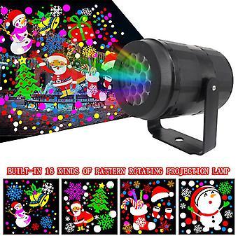 Proiector laser de Crăciun 16 modele de Crăciun proiector laser de înaltă luminozitate în aer liber lumina de Craciun Etapa Home Decorare