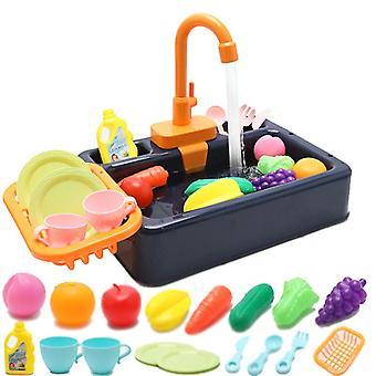 Замена Кухонная раковина Игрушки, Дети Электрическая посудомоечная машина Игра игрушка с проточной водой