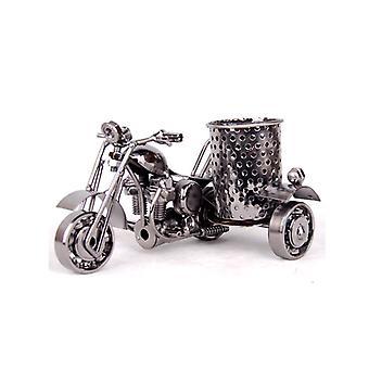 Office Desktop Storage Harley Motorcycle Lovers Supporto penna matita in metallo Nero