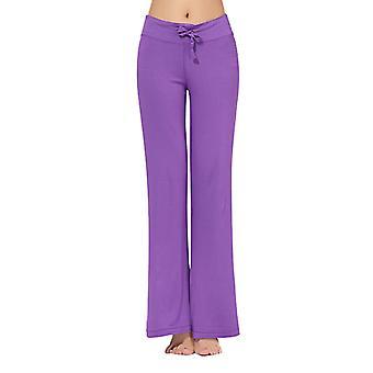 Women's Slim Yoga Pants Trousers Fitness Leggings Drawstring