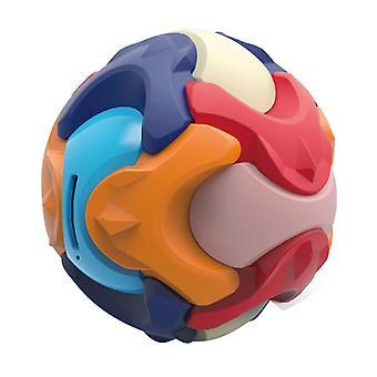 キッズ教育パズルおもちゃのビルディングブロック組み立てラウンドコインマネーバンクボックスボール子供早期学習ギフト