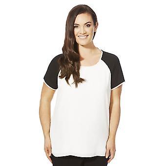 Colour Block Plus Size T-Shirt