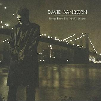 David Sanborn - Songs From the Night Before [CD] USA import