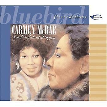 Carmen McRae - Sarah-Dedicated to You [CD] USA import
