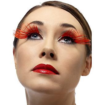 Wimpers kunstmatige wimpers-rood extra lang met strass