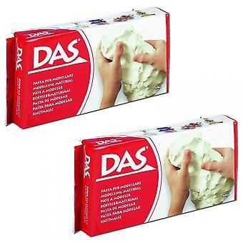 DAS Air Dry Modelling Clay White 2000g/2KG Bundle