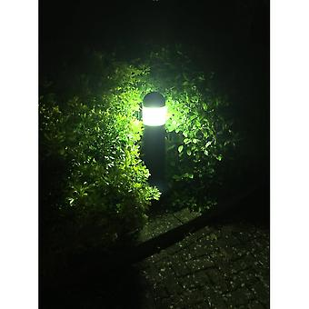 LED Robus Spindle Black Driveway Bollard, 650mm