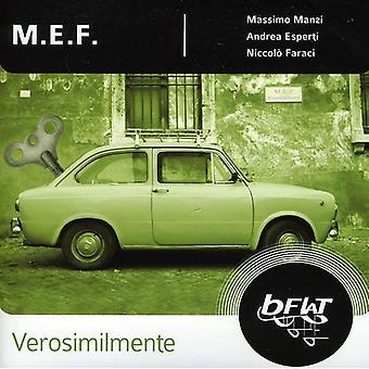 M.E.F. - Verosimilmente [CD] USA import