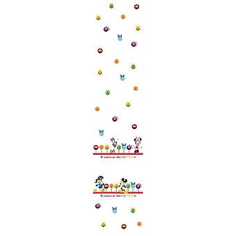Disney Minnie & venner børnehave hvid Voile gardin