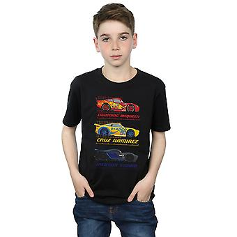 ديزني الأولاد السيارات المتسابق الشخصية تي شيرت