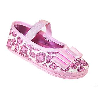 Baby girls pink soft sole party shoes