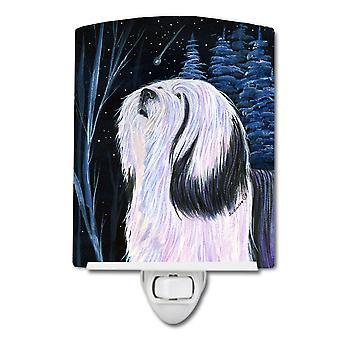 Carolines Treasures  SS8348CNL Tibetan Terrier Ceramic Night Light