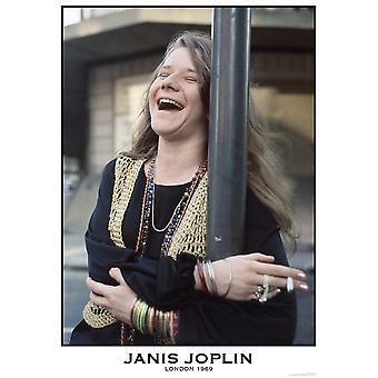 Дженис Джоплин, смеясь Плакат Плакат Печать