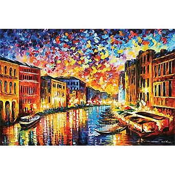 Leonid Afremov Grand Canal Grand Canal Venice plakat plakat Print
