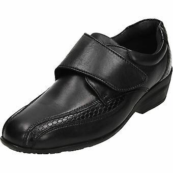 Dr Keller Black Leather Comfy Shoes