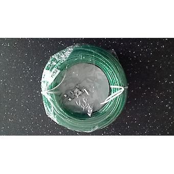 Vask linje 2 metall klemmer 25 M - stål Core-199 kg belastning - (grønn)