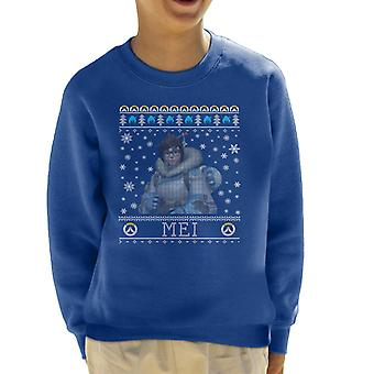Mei Overwatch Christmas Knit Pattern Kid's Sweatshirt