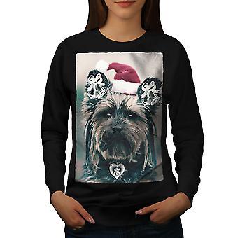Yorkshire Cute Women BlackSweatshirt | Wellcoda