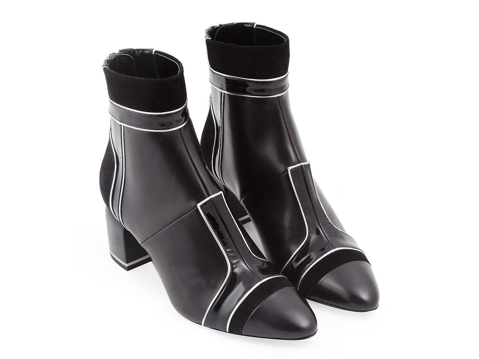 Pierre Hardy heeled ankle boots in black lambskin TVdtp