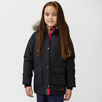 New Peter Storm Girl's Sarah Insulated Parka Black