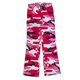 Military Combat Womens Trousers Pink Camo Camouflage Bright Army Pants