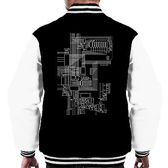ZX Spectrum Computer Schematic Men's Varsity Jacket
